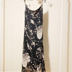 Zara Black Midi Chiffon Dress
